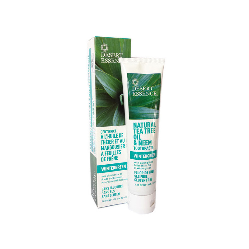 Desert essence dentifrice Tea tree et Margousier 176gr