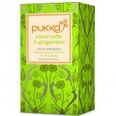 Tisane Pukka Citronnelle & Gingembre 20 sachets