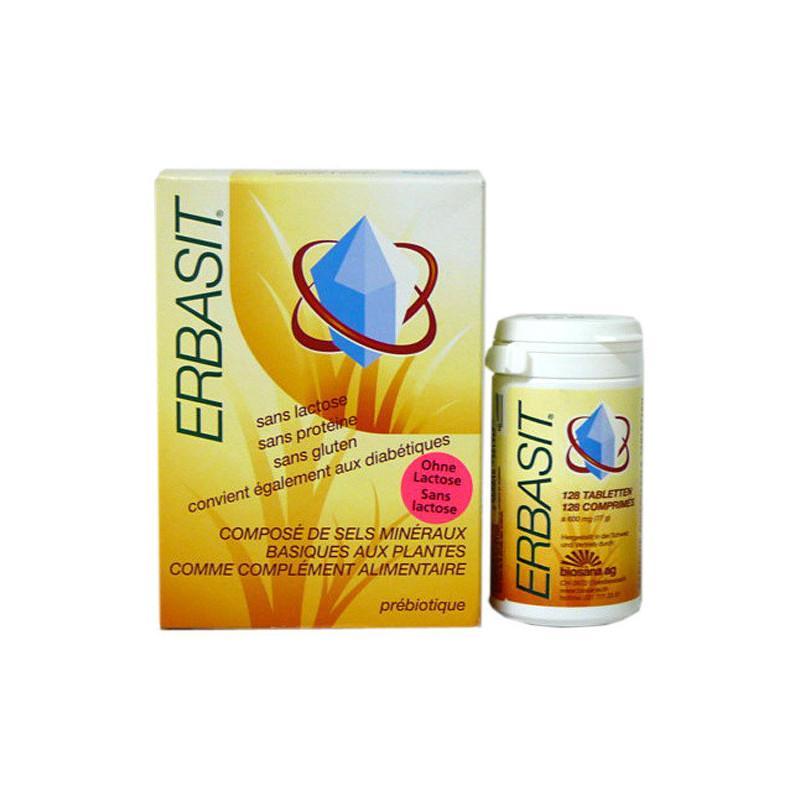 Erbasit sans lactose 128 comprimés 600mg
