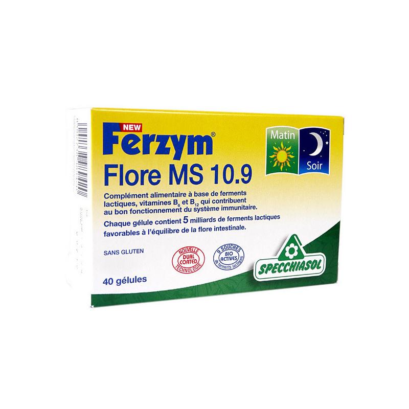 Ferzym Flore MS 10.9 40 gélules 2 boites 40 gélules