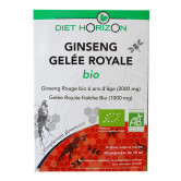 Ginseng Gelée royale Bio 1 acheté   1 offert Diet Horizon 20 ampoules