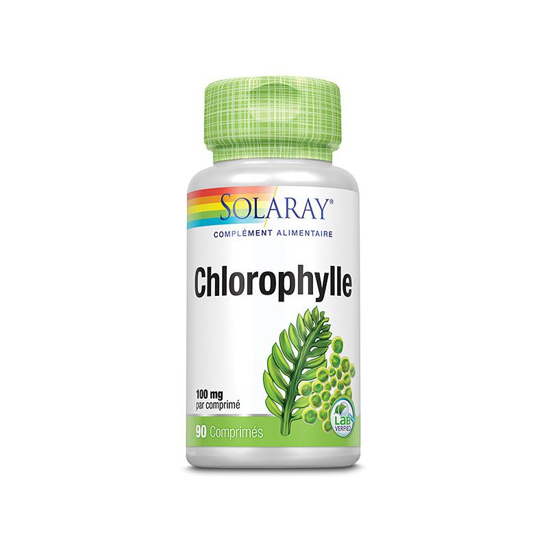 Chlorophylle Solaray 1 boîte 90 comprimés