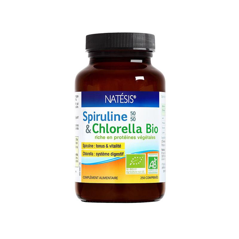 Spiruline / Chlorella Bio Natesis 250 comprimés 400mg