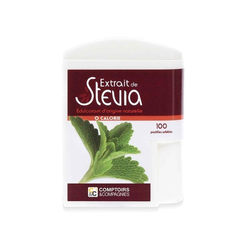 Stévia pastilles 100 ou 250 1 boite de 100 pastilles