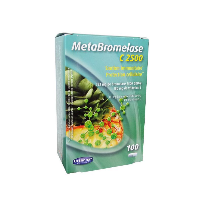 MetaBromelase C2500 Orthonat 100 gélules