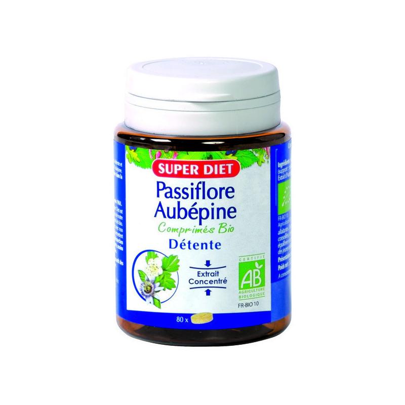 Passiflore Aubépine Bio 80 comprimés