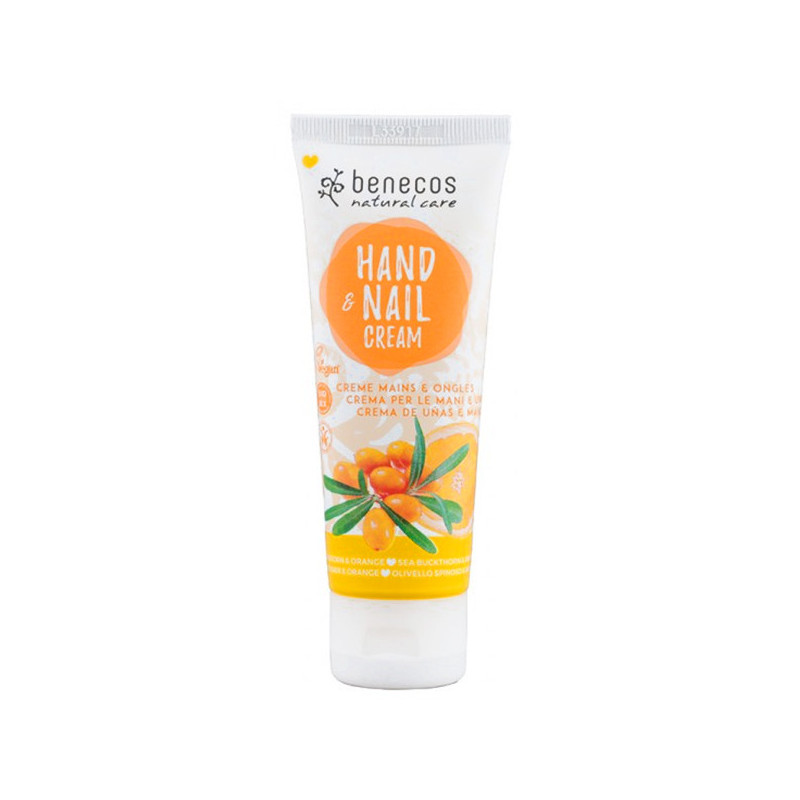 Benecos Crème mains et ongles Argousier & Orange 1 Tube 75 ml