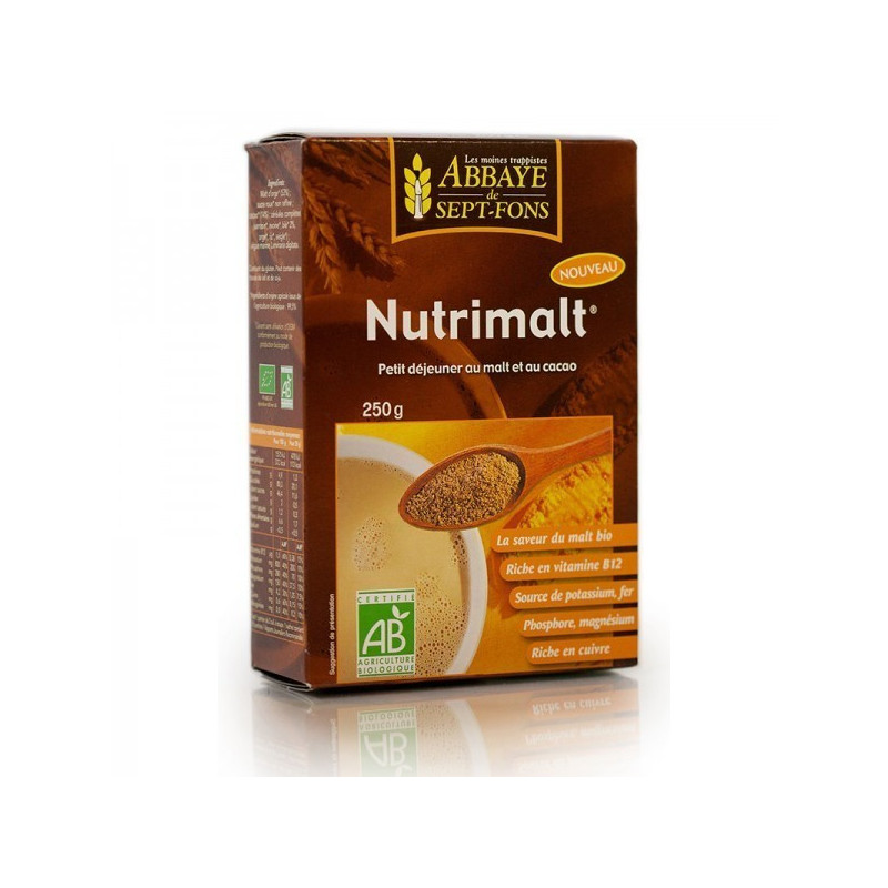 Nutrimalt Bio au malt et cacao 250 gr