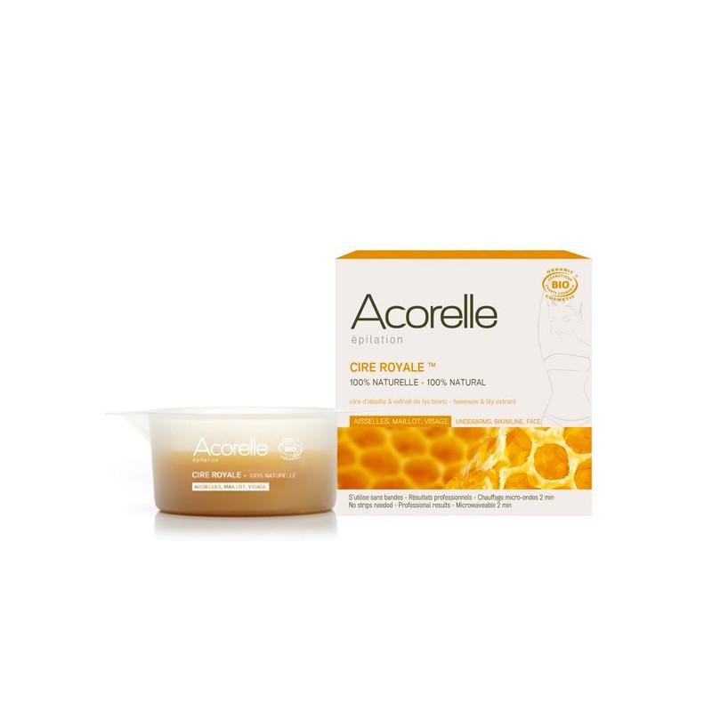 Cire chaude royale Bio Epilation - Aisselles Maillot visage Pot 100 gr + 1 spatule bois