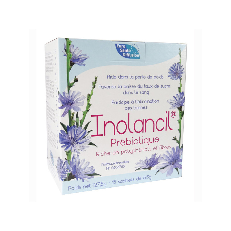 Inolancil prébiotique 15 sachets 1 boite de 15 sachets de 8