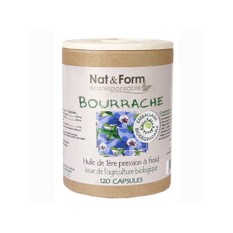 Bourrache Bio Nat & form 120 gélules 120 Capsules