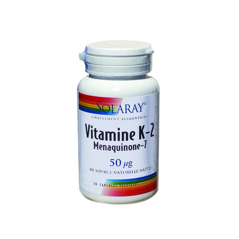 Vitamine K2 MK7 Solaray 30 capsules 1 boite de 30 capsules