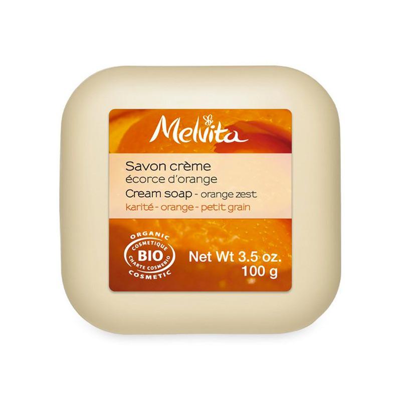 Savon crème Ecorce Orange Melvita Savon 100 gr