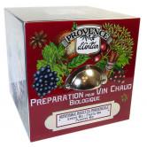Cube Préparation Bio Vin Chaud Coffret métal 24 sachets