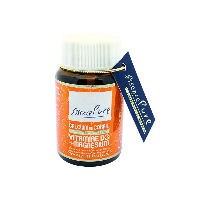 Calcium de Corail + vitamine D3 120 gélules Essence Pure 120 gélules