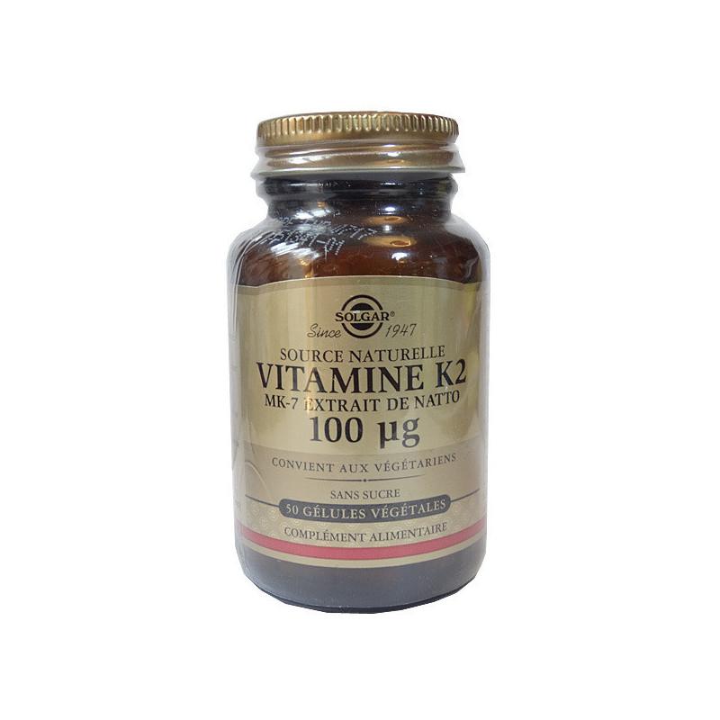 Vitamine K2 MK7 Solgar 50 gélules