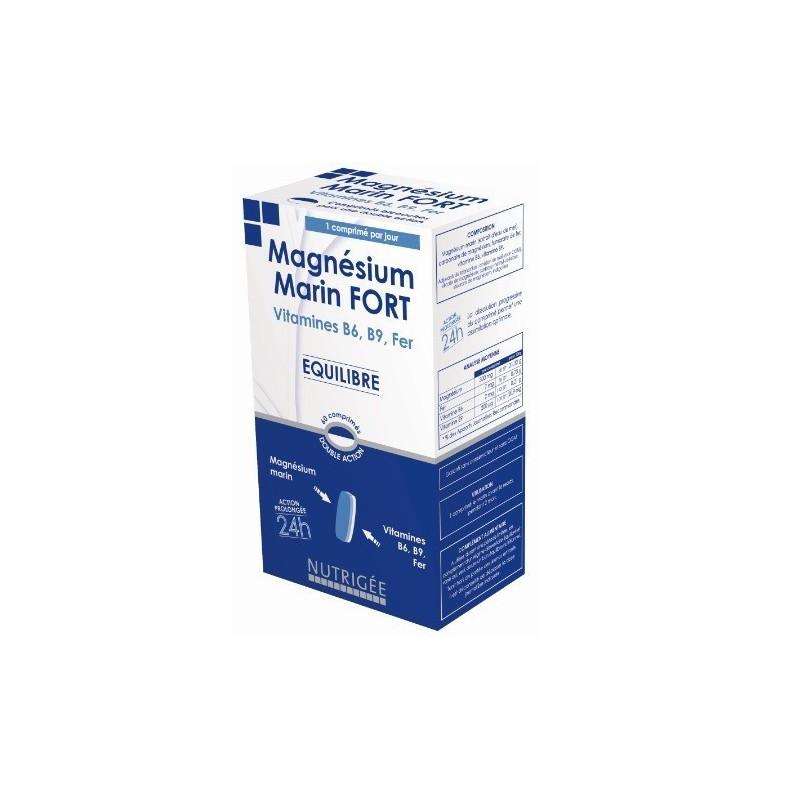 Magnésium Marin Fort Bicouche Nutrigée 60 comprimés bicouches