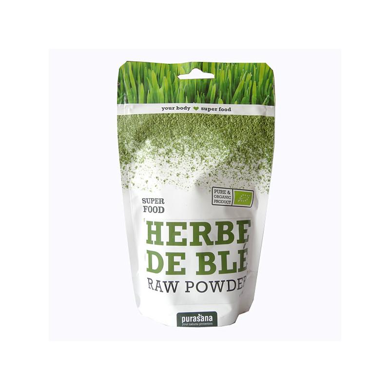 Poudre Herbe de blé Bio Purasana - 200 gr Sachet 200 gr Poudre