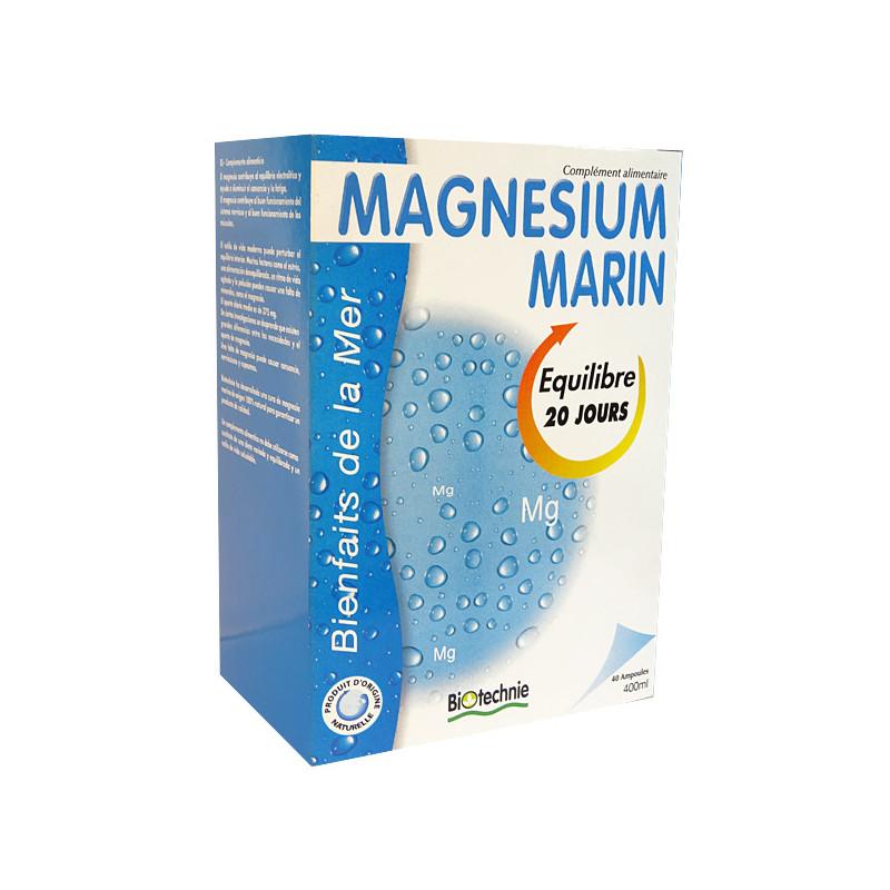Magnésium marin ampoules Biotechnie 1 boite de 20 ampoules