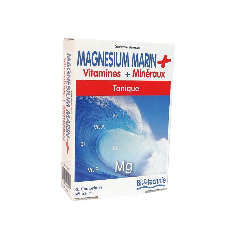 Magnésium marin Tonique 30 gélules Biotechnie 30 gélules