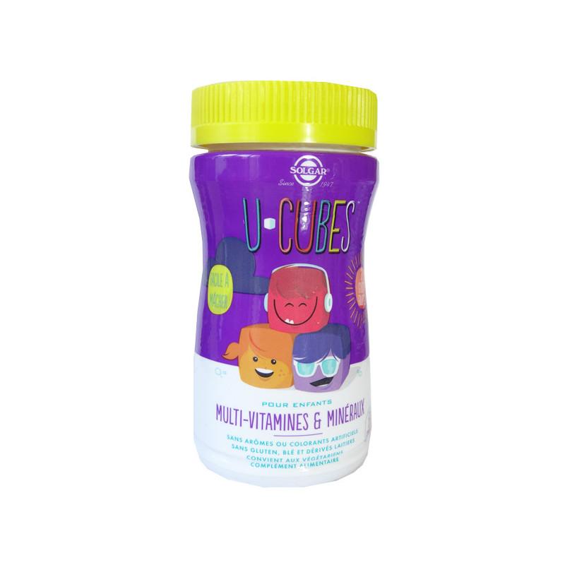 U Cubes Multi-Vitamines Solgar 60 Gommes 60 Gommes à macher
