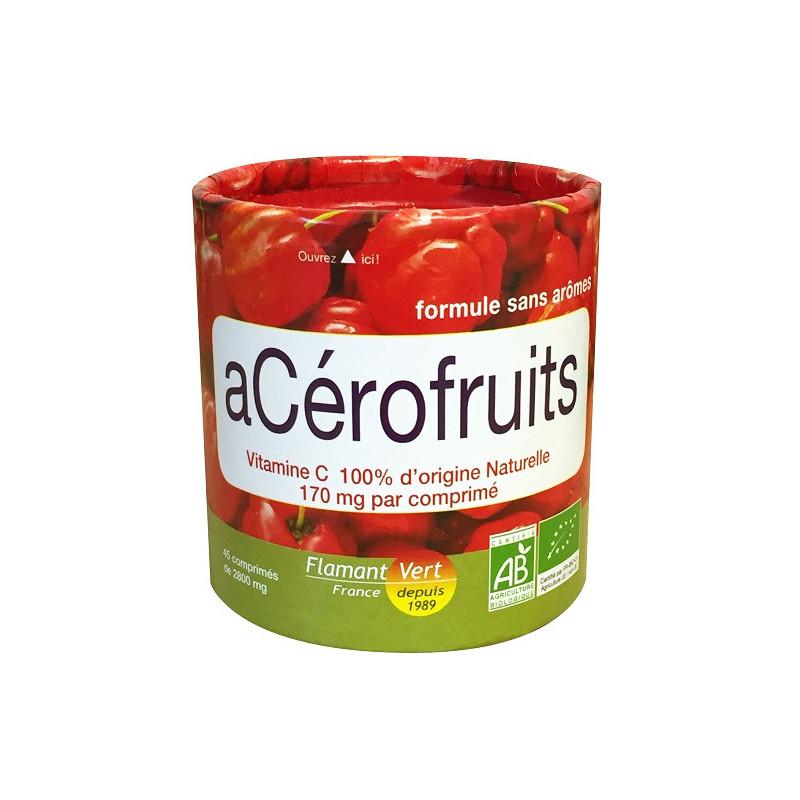 Acérofruits Bio 45 comprimés Flamant Vert 45 comprimés de 2800 mg