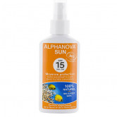 Spray Solaire Adulte SPF 15 Alphanova Spray 125 ml