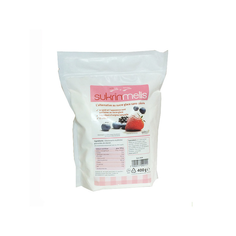 Sukrin Melis - sucre glace 0 calories 400 gr Sachet zip 400 gr