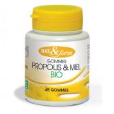 Gommes propolis et miel Bio Nat & Form 45 gommes