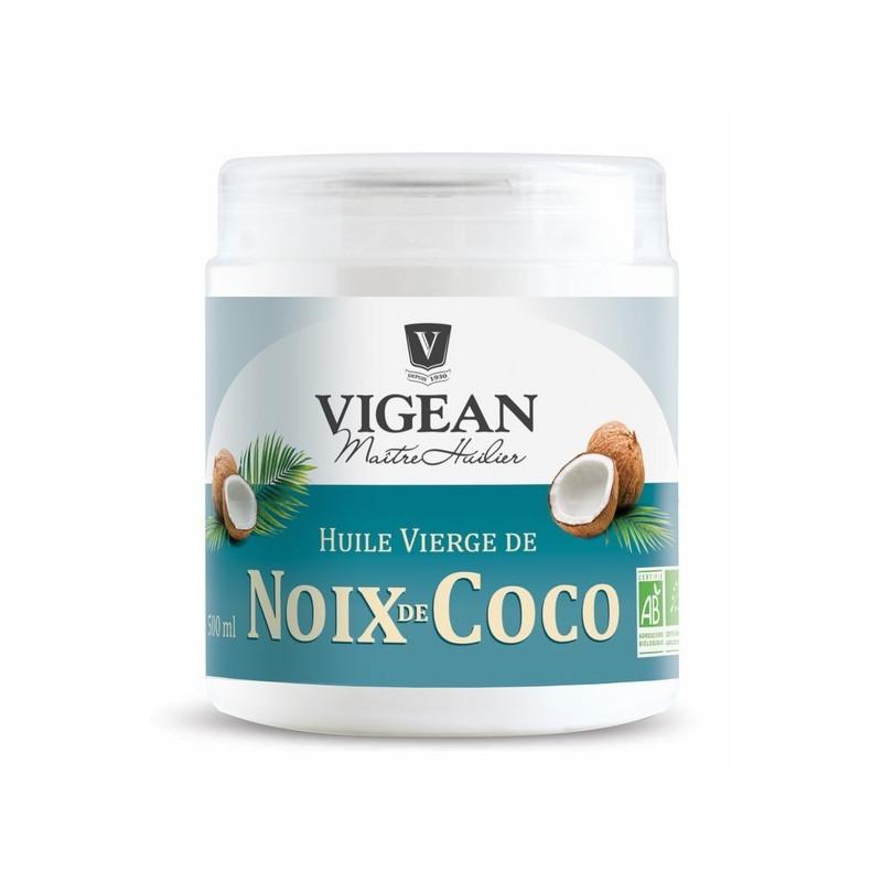 Huile vierge de noix de coco bio 500 ml Vigean 500 ml