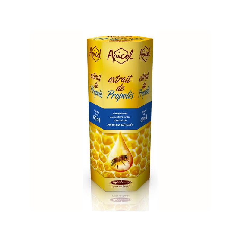 Extrait de propolis Apicol 60 ml Flacon de 60 ml