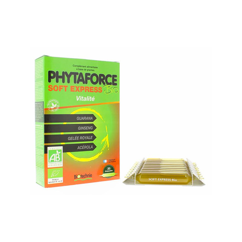 Phytaforce Bio Soft Express Biotechnie 20 ampoules