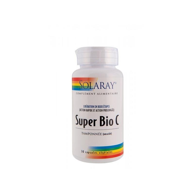 Super Bio C tamponnée Solaray 30 gélules 500 mg