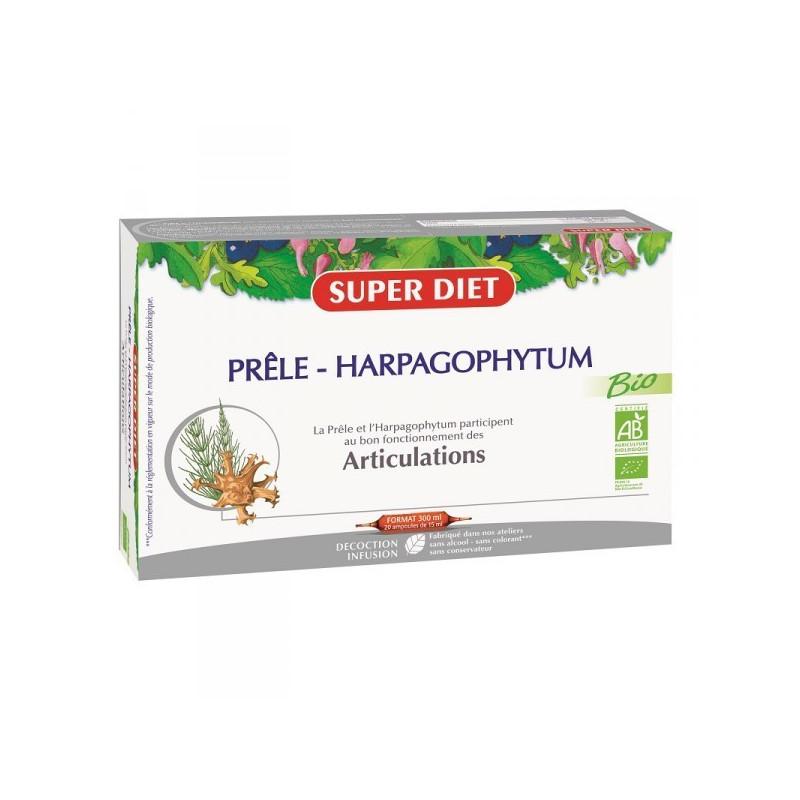 Prêle Harpagophytum Bio 20 ampoules Super Diet 20 ampoules de 15 ml
