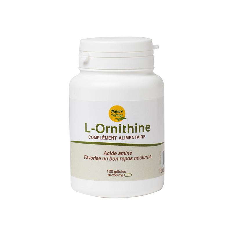 L-Ornithine 120 gél. 250 mg Docteur Nature 120 gélules dosées à 250 mg