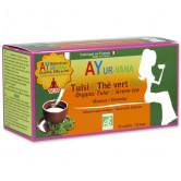 Tisane Tulsi & thé vert Bio Ayur-Vana 25 sachets