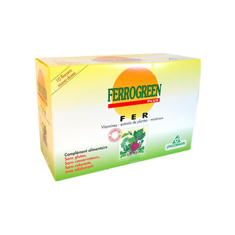 Ferrogreen plus Boite de 10 flacons
