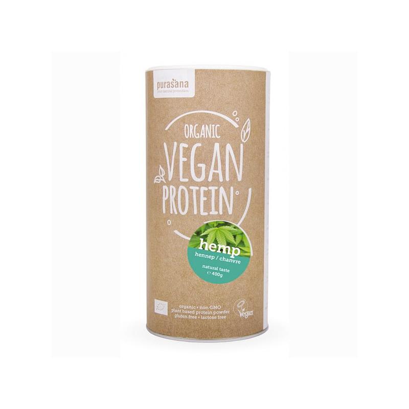 Protéine Vegan de chanvre Bio 400 gr Pot refermable de 400 gr