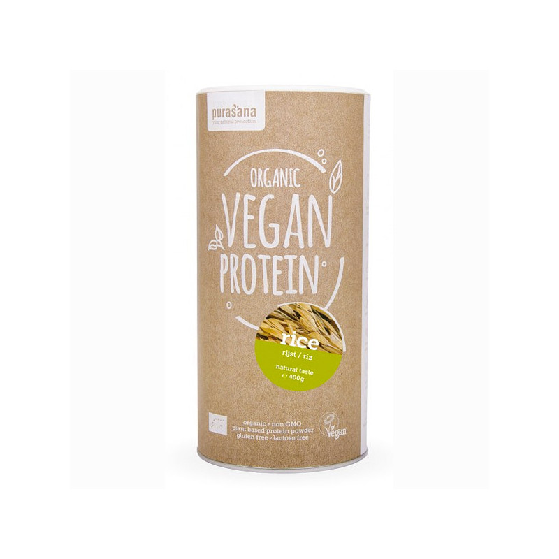 Protéine Vegan de Riz Bio 400 gr Pot refermable de 400 gr