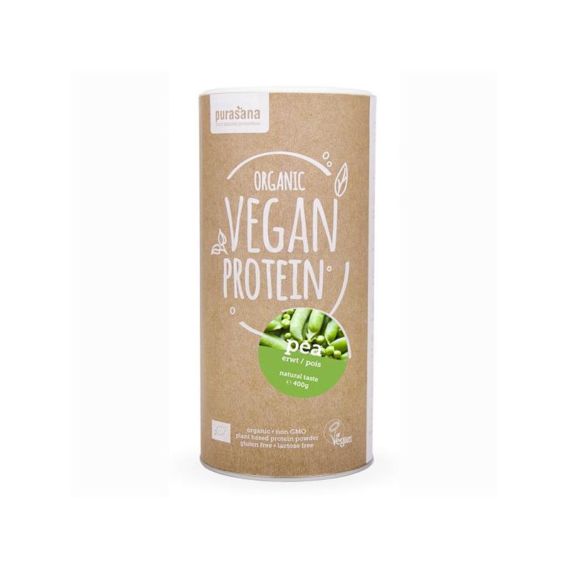 Protéine Vegan de Pois Bio 400 gr Pot refermable de 400 gr