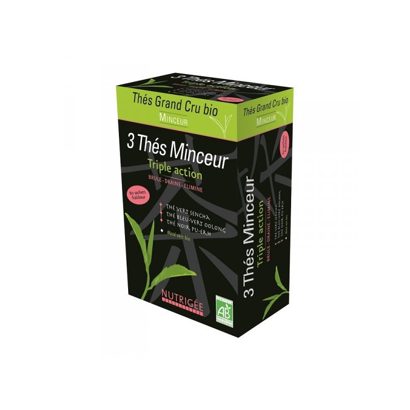 3 thés Minceur - Triple Action Nutrigée 30 sachets fraicheur