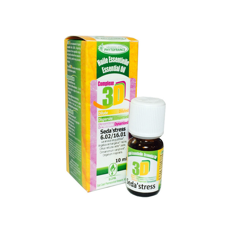 HE 3D - Seda'Stress 10 ml - Phytofrance Flacon 10 ml
