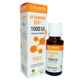 Vitamine D3++ Huile D.Plantes 1000 UI Flacon 20 ml environ 400 gouttes