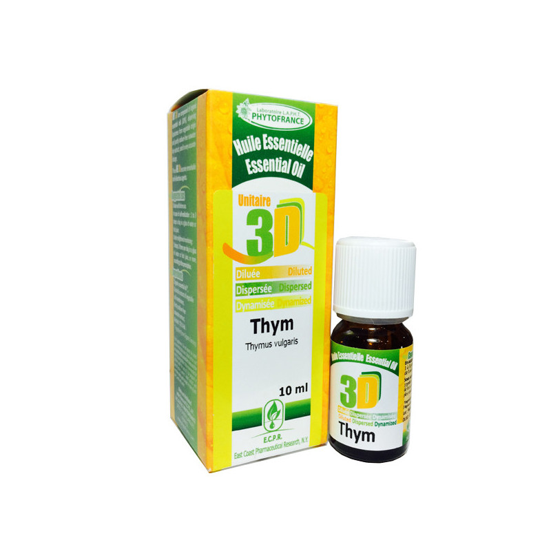 HE 3D - Thym 10 ml - Phytofrance Flacon 10 ml