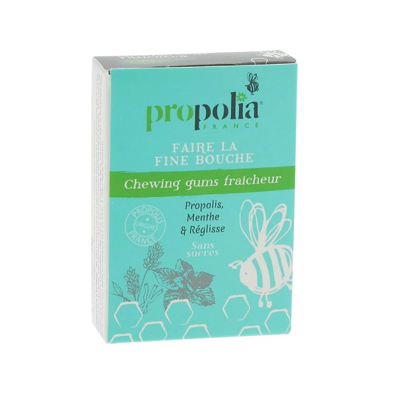 Chewing Gums Menthe Réglisse Propolia Boite de 27 chewing gums