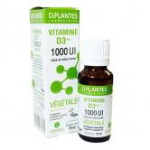 Vitamine D3++ Végétale D.Plantes 1000 UI Flacon gouttes 20 ml Soit 450 gouttes