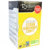 Thé Blanc Bio au Citron et Gingembre Confit 24 infusettes