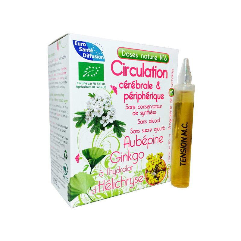 Circulation - Dose nature N°6 ESD 1 boite de 18 doses