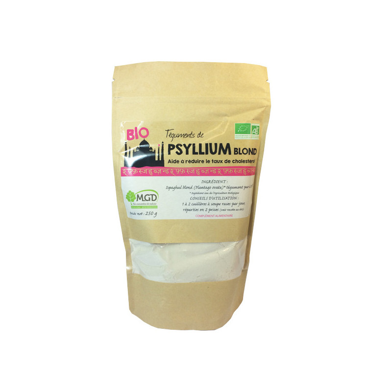 Psyllium Blond Bio pur à 99% 250 gr 250 gr sachet refermable