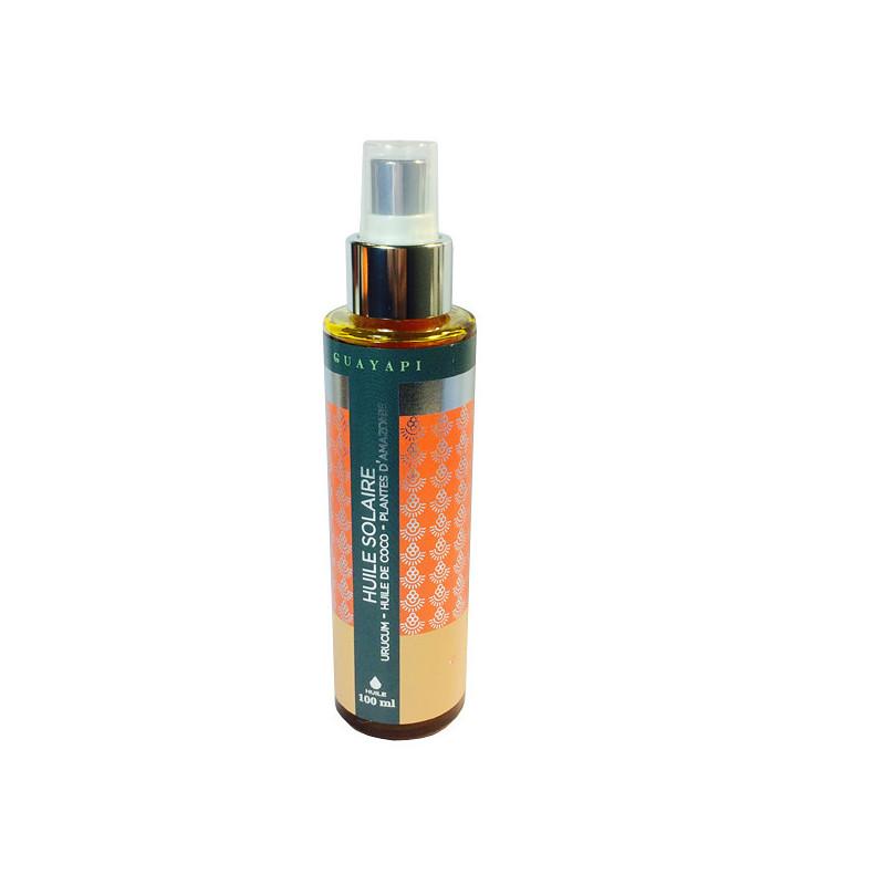 Huile Solaire Urucum Guayapi 100ml Flacon verre spray 100 ml
